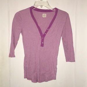 BANANA REPUBLIC XS purple pink 3/4 sleeve top